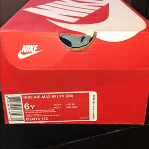 almost new nike air max 90 size 6Y